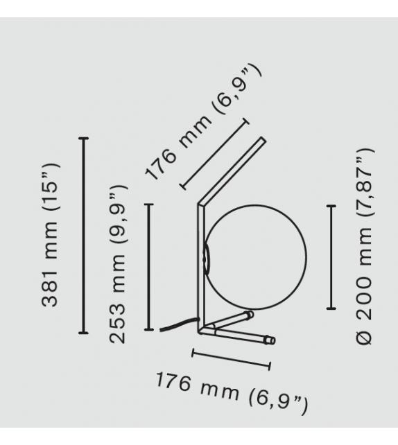 Versandfertig - IC T1 Low Flos Tischleucte