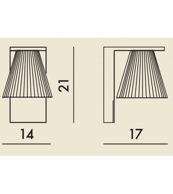 Pronta consegna - Light-Air kartell Lampada da Parete
