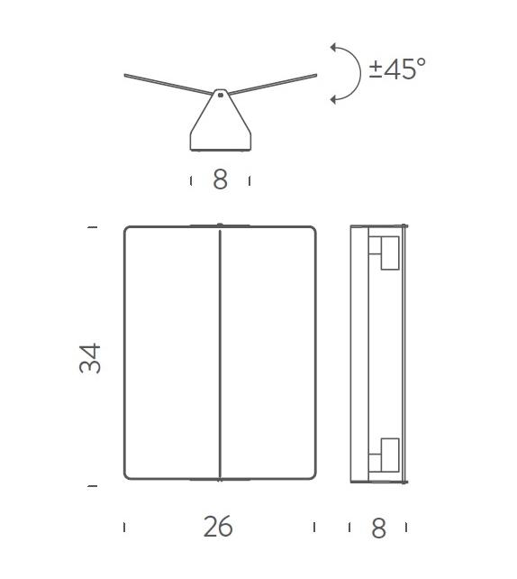 Ready for shipping - Applique à Volet Pivotant Plié Nemo Wall Lamp