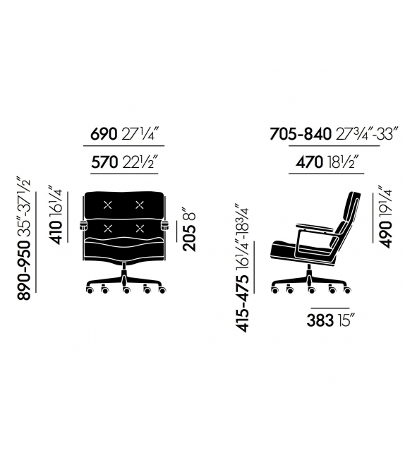 Lobby Chair ES 104 Fauteuil Vitra