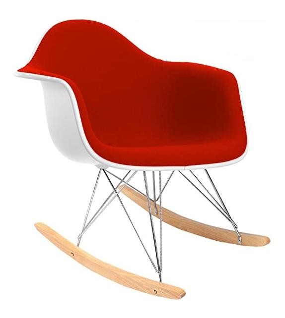 Eames Plastic Armchair RAR Schaukel Sessel mit Kissen Vitra