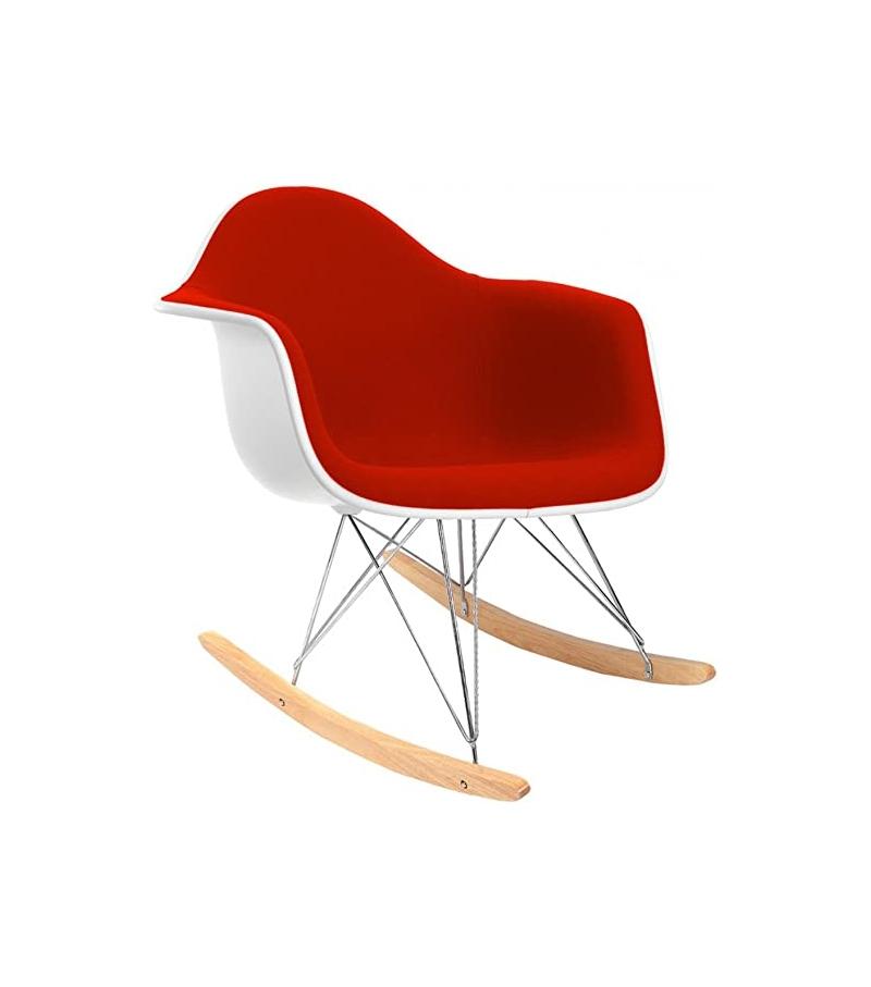 Eames Plastic Armchair RAR Poltroncina a Dondolo Imbottita ...