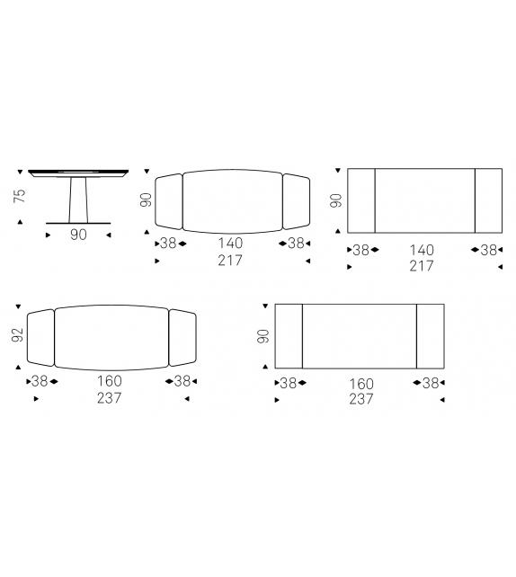 Linus Keramik Drive Tavolo Allungabile