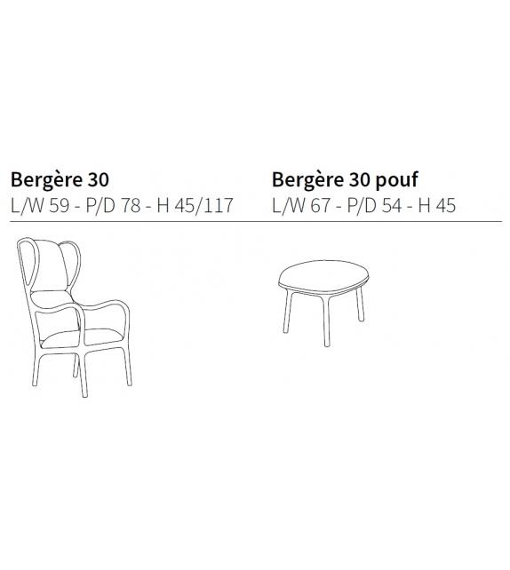 Bergère 30 Poltrona Ceccotti Collezioni