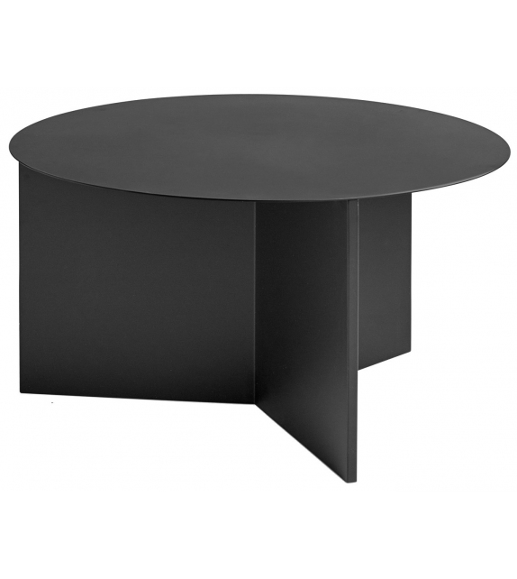 Slit Table Round Petite Table Hay