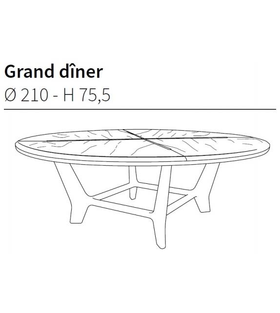 Grand Diner Ceccotti Collezioni Tavolo