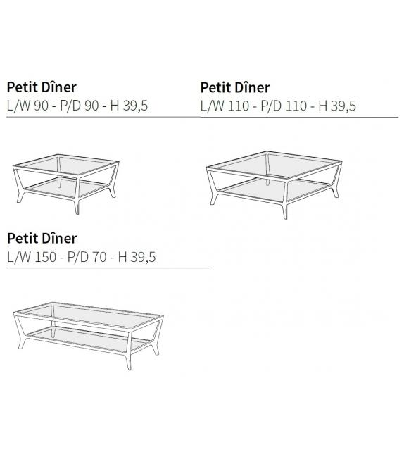 Petit Dîner Ceccotti Collezioni Table Basse