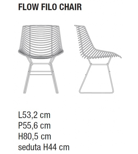 Flow Filo Chair MDF Italia Outdoor Chaise