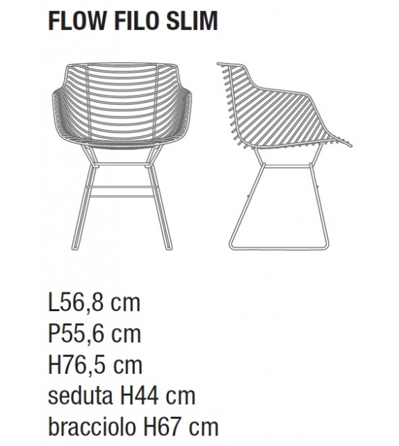 Flow Filo Slim MDF Italia Outdoor Armchair