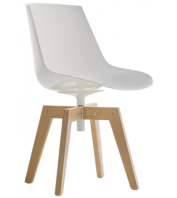 Flow Chair Iroko MDF Italia Outdoor Sedia
