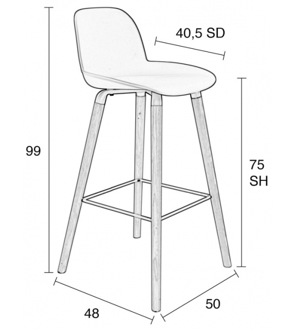 Ready for shipping - Albert Kuip Zuiver Barstool