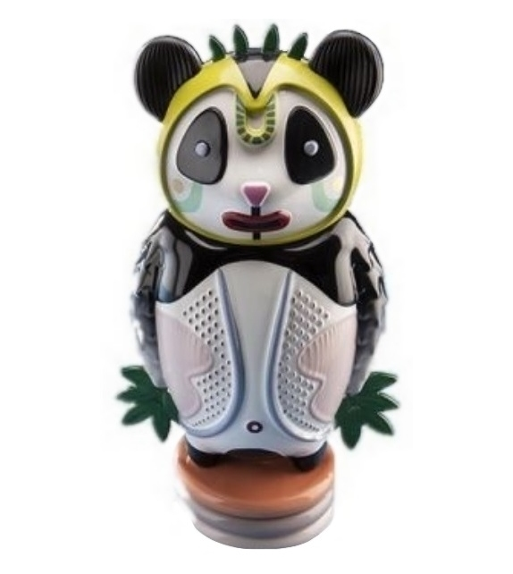 Versandfertig - Bernardo Panda Bosa Skulptur