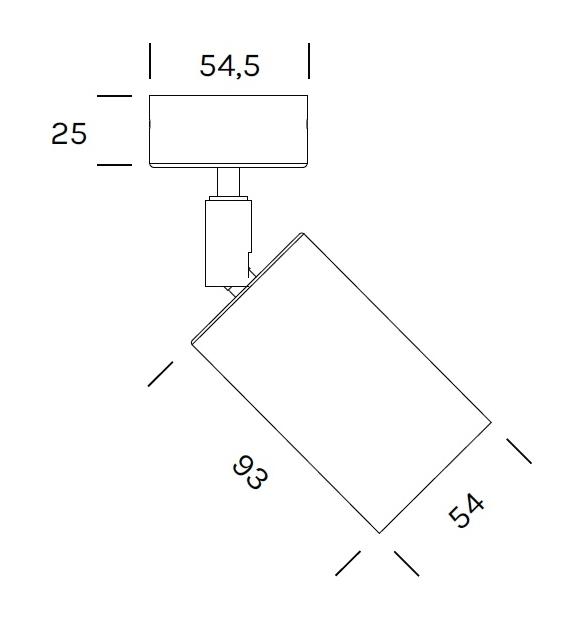 Cylinder Spot Olev Applique/Plafonnier