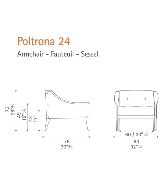 Dezza Armchair 24 Poltrona Frau