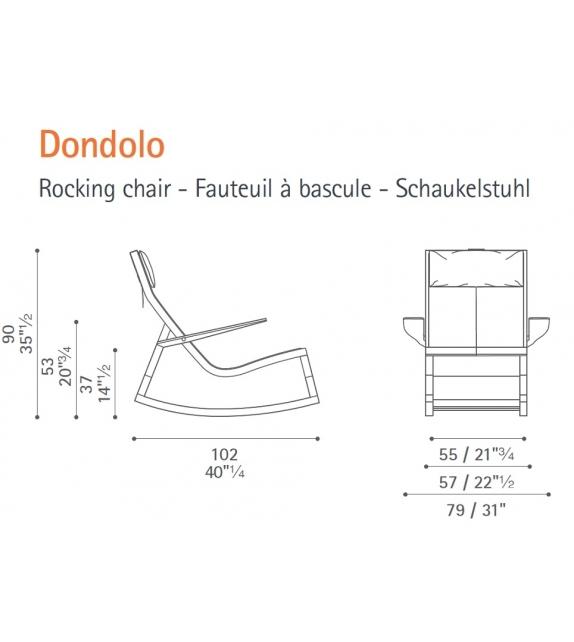 Don'do Rocking Chair Poltrona Frau