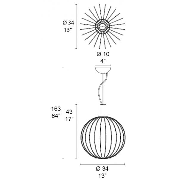 Fili D005/1 01 MMLampadari Suspension Lamp