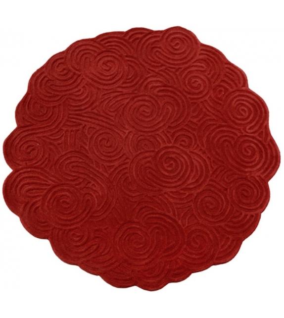 Round Scarlet Splendour Alfombra