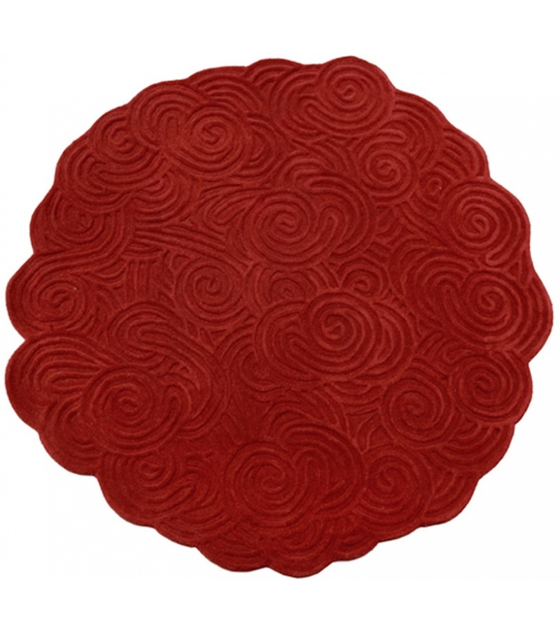 Round Scarlet Splendour Tapis