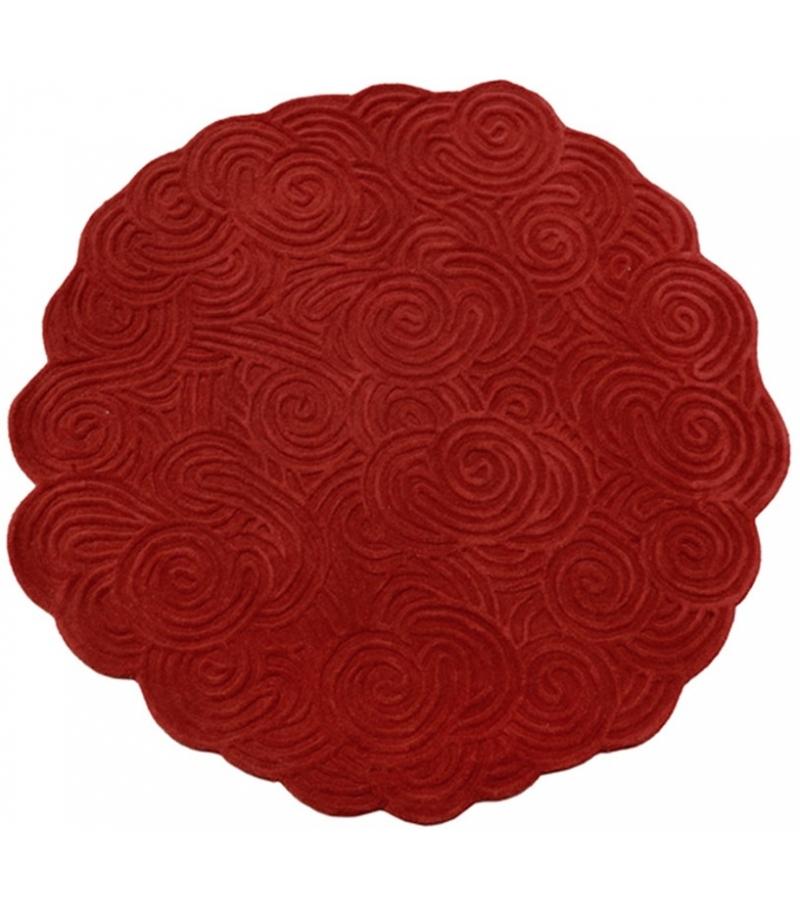 Round Scarlet Splendour Teppich