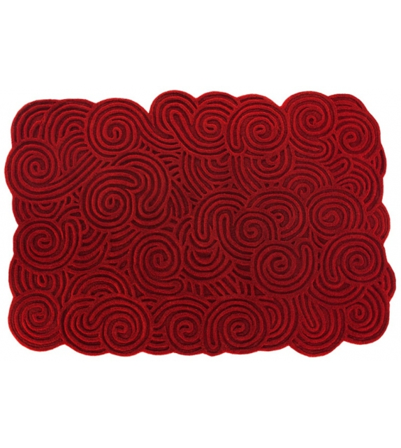 Rectangular Scarlet Splendour Alfombra