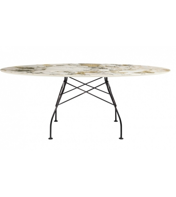 Glossy Marble Table Kartell