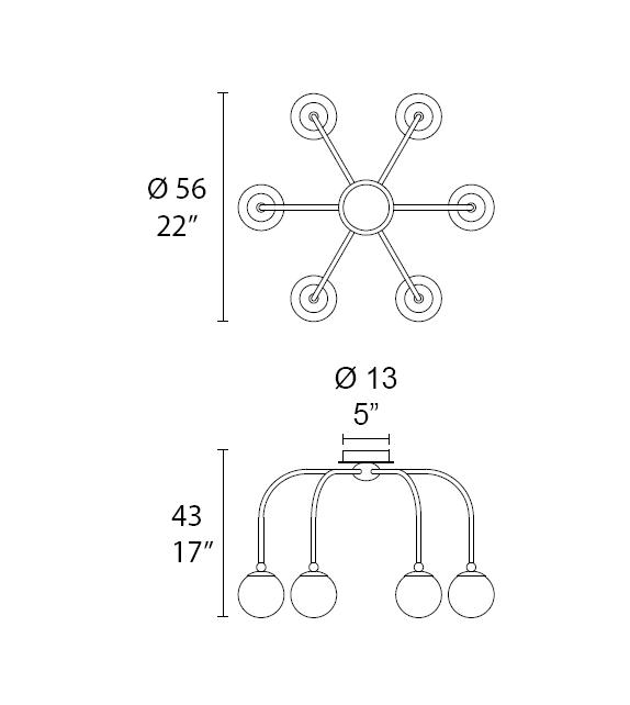Dots 7210/P6 MMLampadari Deckenleuchte