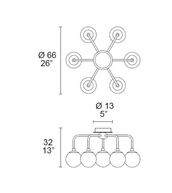 Dots 7210/P7 MMLampadari Deckenleuchte