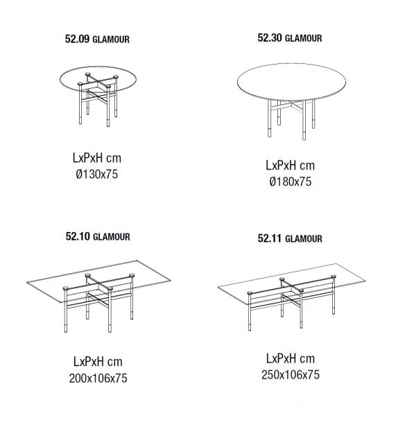 Glamour Table Bontempi