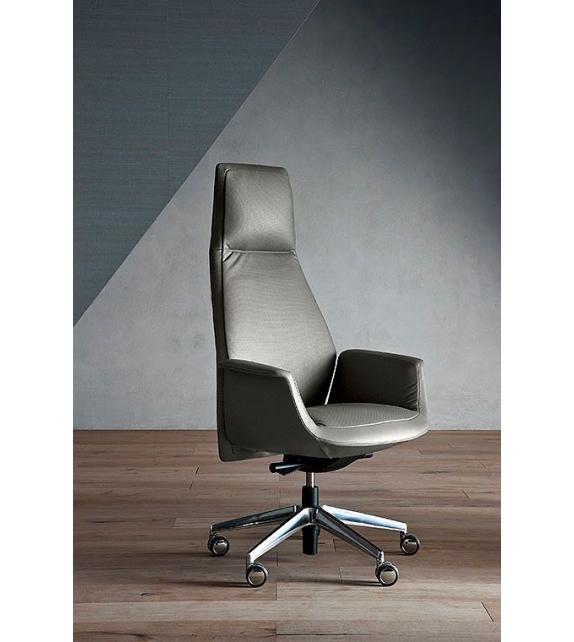 Downtown President Swivel Chair Poltrona Frau