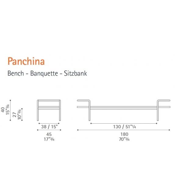 T 904 Bench Poltrona Frau