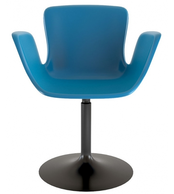 Juli Plastic Cappellini Small Armchair with Goblet Base
