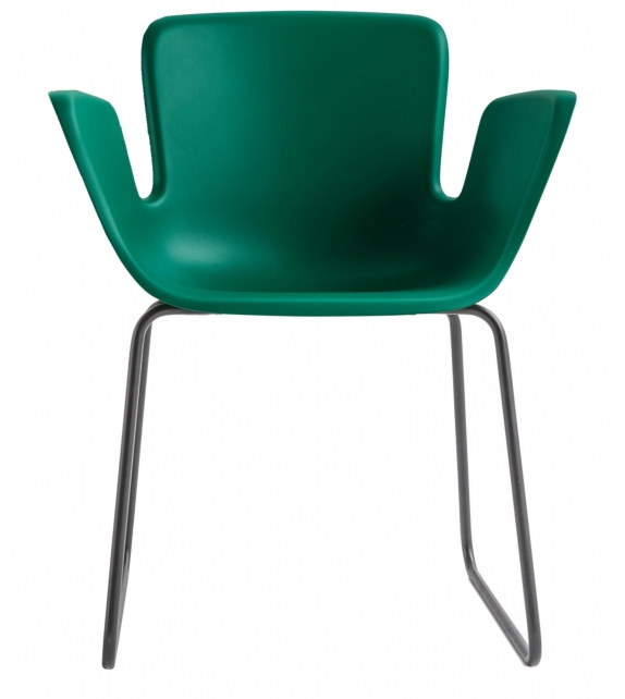 Juli Plastic Cappellini Small Armchair with Sled Base