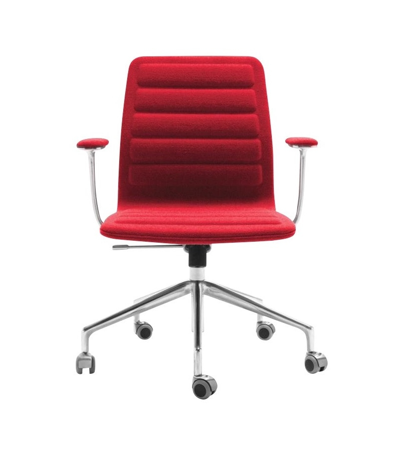 Lotus (Low) Chair On Wheels With Armrests Cappellini