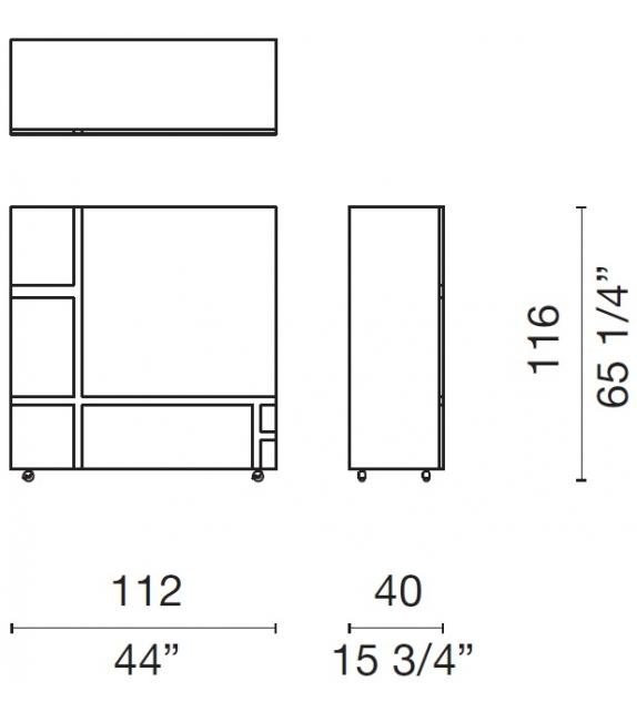 Homage to Mondrian 2 Mobile Contenitore Cappellini