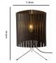 T3 Graypants Espresso Table Lamp