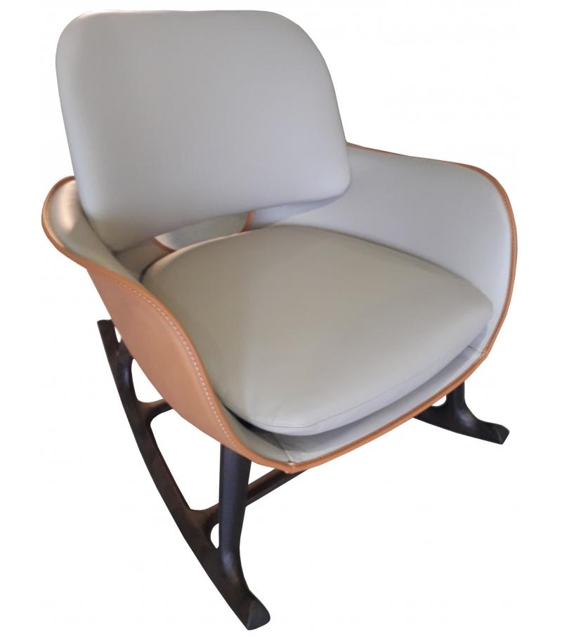 Ready for shipping - Martha Poltrona Frau Rocking Chair