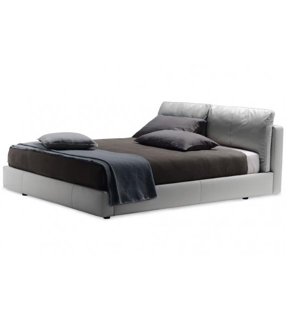 Massimosistema Bed Lit Avec Compartiment Poltrona Frau