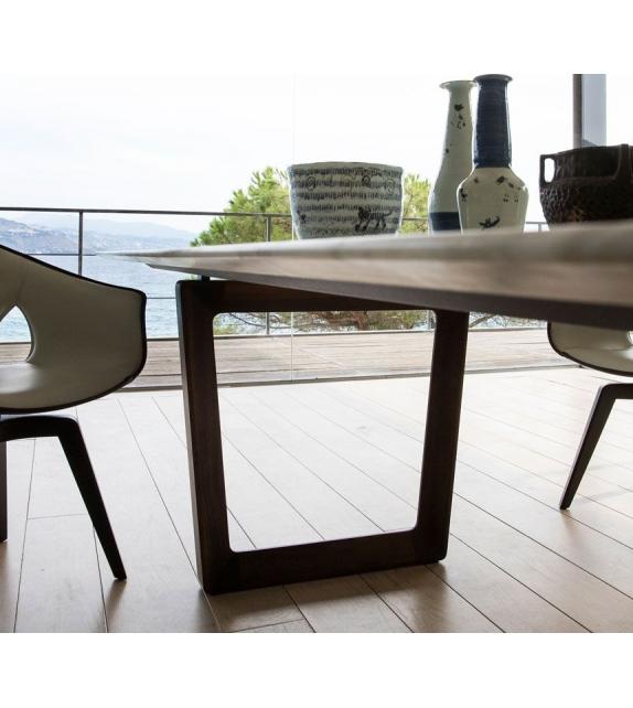 Poltrona Frau Bolero Table Avec Plateau en Marbre