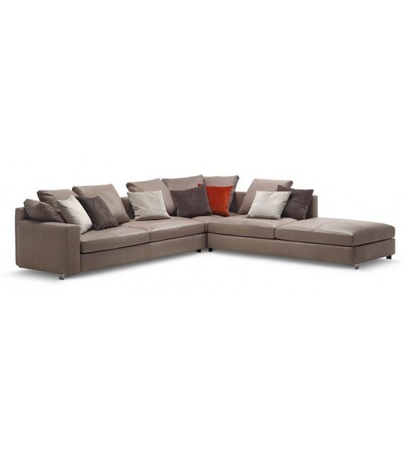 Massimosistema divano 2 posti large braccioli bassi