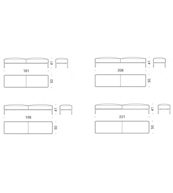 Horizontal DePadova Bench