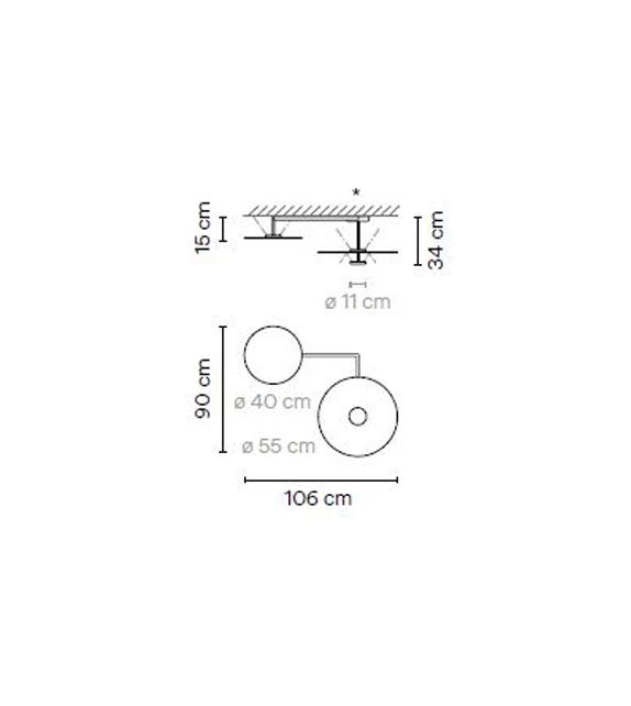Flat Vibia Deckenleuchte - 5910