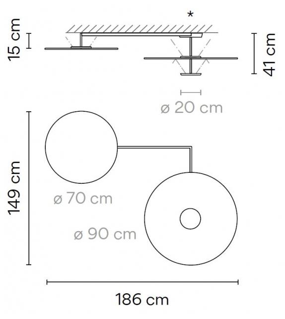 Flat Vibia Deckenleuchte - 5924