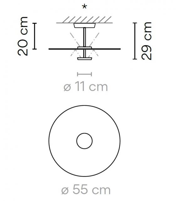 Flat Vibia Deckenleuchte - 5915