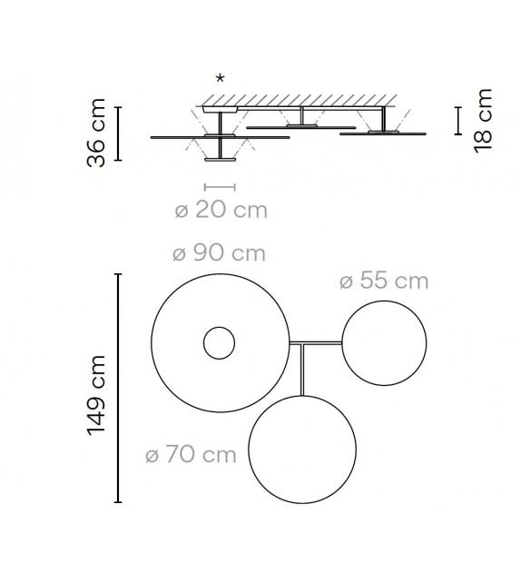 Flat Vibia Deckenleuchte - 5905