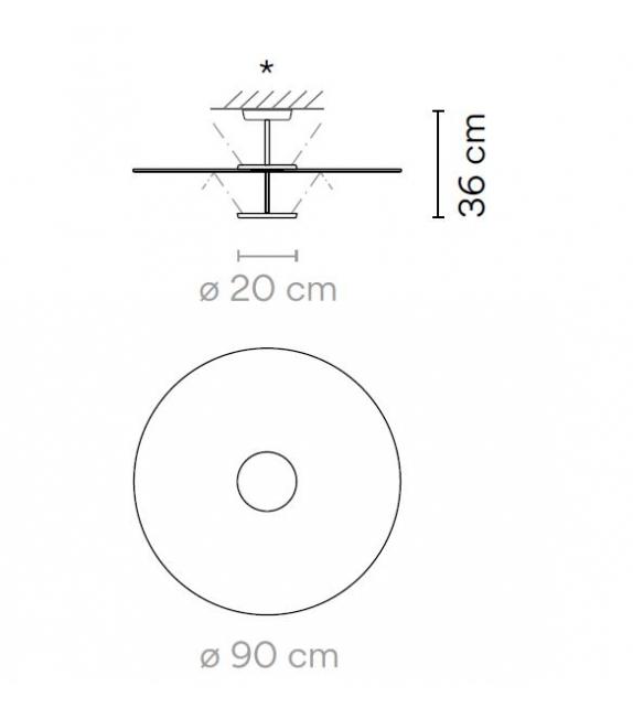 Flat Vibia Deckenleuchte - 5920