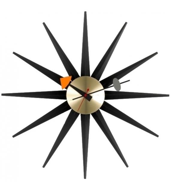 Sunburst Clock Horloge Vitra