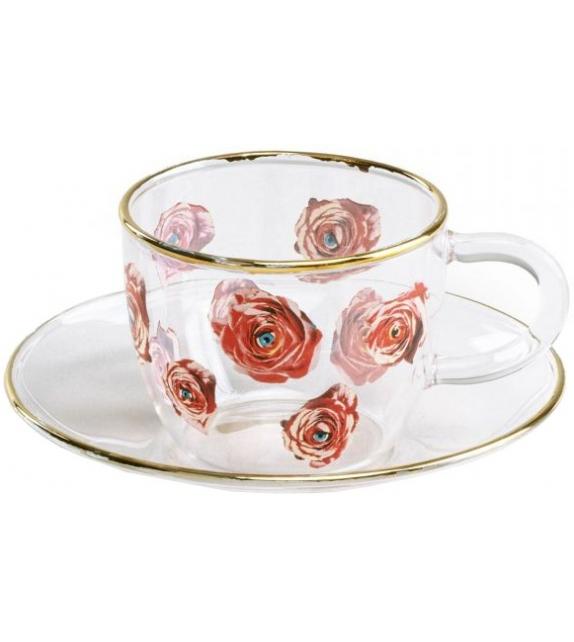 Versandfertig - Roses Seletti Kaffeetasse gesetzt