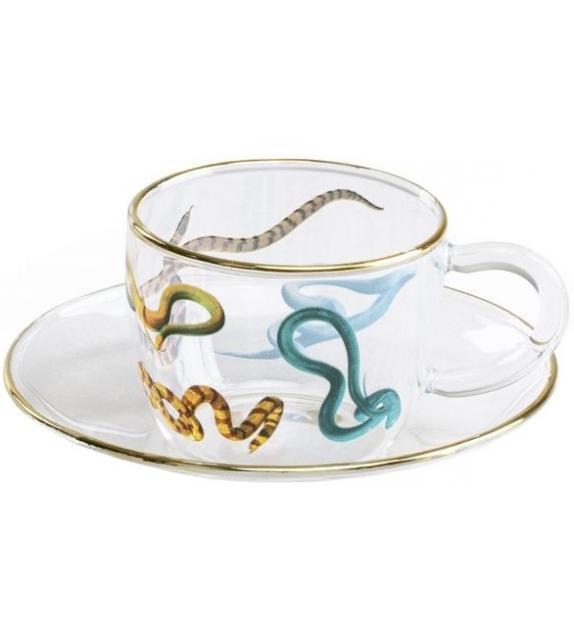 Versandfertig - Snakes Seletti Kaffeetasse gesetzt