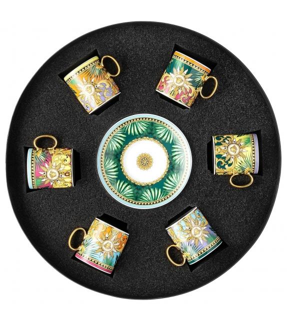 Jungle Animalier Rosenthal Versace Set 6 Espressotassen