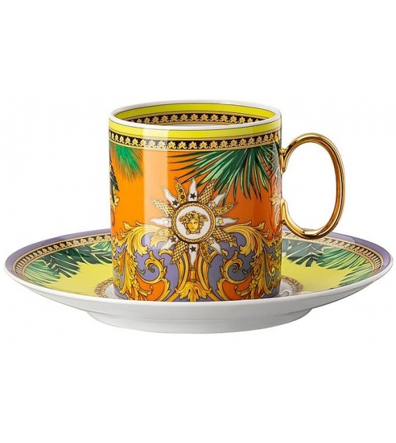 Jungle Animalier Rosenthal Versace Cup & Saucer 4 Tall